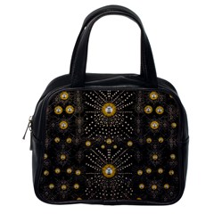 Lace Of Pearls In The Earth Galaxy Pop Art Classic Handbags (one Side) by pepitasart