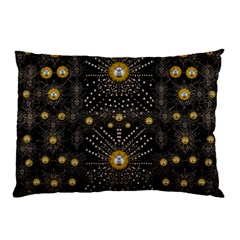 Lace Of Pearls In The Earth Galaxy Pop Art Pillow Case by pepitasart