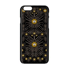 Lace Of Pearls In The Earth Galaxy Pop Art Apple Iphone 6/6s Black Enamel Case by pepitasart