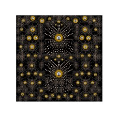 Lace Of Pearls In The Earth Galaxy Pop Art Small Satin Scarf (square) by pepitasart