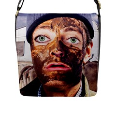 Shitfaced Flap Messenger Bag (l)  by RakeClag