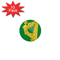 The Green Harp Flag Of Ireland (1642 1916) 1  Mini Buttons (10 Pack)  by abbeyz71
