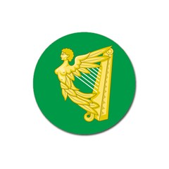 The Green Harp Flag Of Ireland (1642 1916) Magnet 3  (round) by abbeyz71