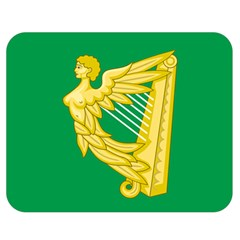 The Green Harp Flag Of Ireland (1642 1916) Double Sided Flano Blanket (medium)  by abbeyz71