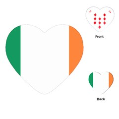 Flag Of Ireland  Playing Cards (heart)  by abbeyz71