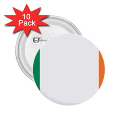 Flag Of Ireland  2 25  Buttons (10 Pack)  by abbeyz71
