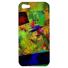 Green paint       Apple iPhone 5 Hardshell Case by LalyLauraFLM