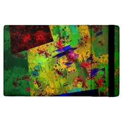 Green paint       Kindle Fire (1st Gen) Flip Case by LalyLauraFLM