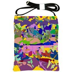 Shapes In Retro Colors              Shoulder Sling Bag by LalyLauraFLM