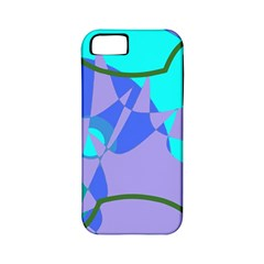 Purple Blue Shapes        Apple Iphone 4/4s Hardshell Case (pc+silicone) by LalyLauraFLM