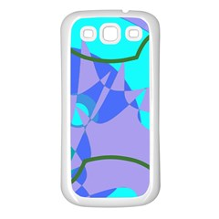 Purple blue shapes        Samsung Galaxy S7710 Xcover 2 Hardshell Case by LalyLauraFLM