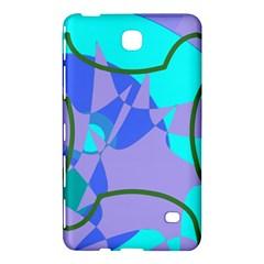 Purple Blue Shapes        Samsung Galaxy Tab 4 (7 ) Hardshell Case by LalyLauraFLM