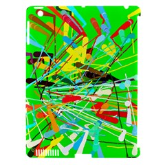 Colorful Painting On A Green Background        Apple Ipad 3/4 Hardshell Case (compatible With Smart Cover) by LalyLauraFLM