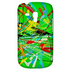 Colorful Painting On A Green Background        Samsung Galaxy Ace Plus S7500 Hardshell Case by LalyLauraFLM