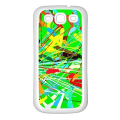 Colorful painting on a green background        Samsung Galaxy S7710 Xcover 2 Hardshell Case by LalyLauraFLM