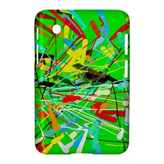 Colorful Painting On A Green Background        Apple Iphone 5c Hardshell Case by LalyLauraFLM