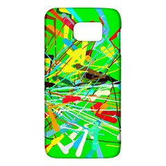 Colorful painting on a green background        HTC One M9 Hardshell Case by LalyLauraFLM