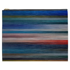 Background Horizontal Lines Cosmetic Bag (XXXL)  by Vayuart