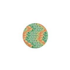 Emerald And Salmon Pattern 1  Mini Buttons by linceazul