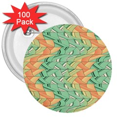 Emerald And Salmon Pattern 3  Buttons (100 Pack)  by linceazul