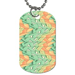 Emerald And Salmon Pattern Dog Tag (two Sides) by linceazul