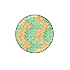 Emerald And Salmon Pattern Hat Clip Ball Marker by linceazul