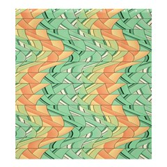Emerald And Salmon Pattern Shower Curtain 66  X 72  (large)  by linceazul