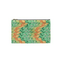 Emerald And Salmon Pattern Cosmetic Bag (small)  by linceazul