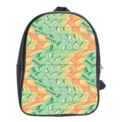 Emerald And Salmon Pattern School Bags(large)  by linceazul
