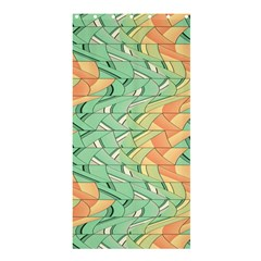 Emerald And Salmon Pattern Shower Curtain 36  X 72  (stall)  by linceazul