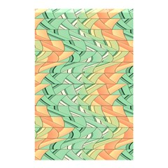 Emerald And Salmon Pattern Shower Curtain 48  X 72  (small)  by linceazul