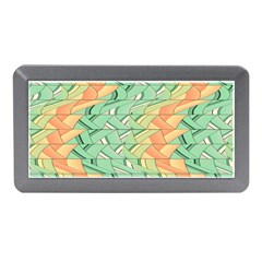 Emerald And Salmon Pattern Memory Card Reader (mini) by linceazul