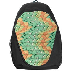 Emerald And Salmon Pattern Backpack Bag by linceazul
