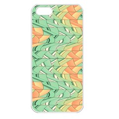Emerald And Salmon Pattern Apple Iphone 5 Seamless Case (white) by linceazul