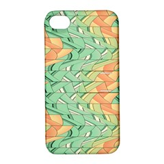 Emerald And Salmon Pattern Apple Iphone 4/4s Hardshell Case With Stand by linceazul
