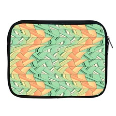 Emerald And Salmon Pattern Apple Ipad 2/3/4 Zipper Cases by linceazul