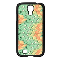 Emerald And Salmon Pattern Samsung Galaxy S4 I9500/ I9505 Case (black) by linceazul