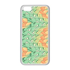 Emerald And Salmon Pattern Apple Iphone 5c Seamless Case (white) by linceazul