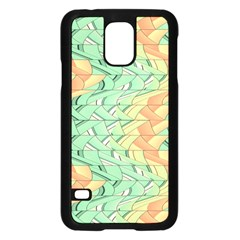 Emerald And Salmon Pattern Samsung Galaxy S5 Case (black) by linceazul