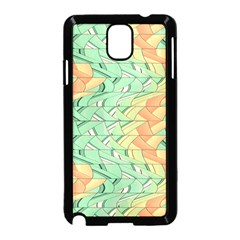 Emerald And Salmon Pattern Samsung Galaxy Note 3 Neo Hardshell Case (black) by linceazul