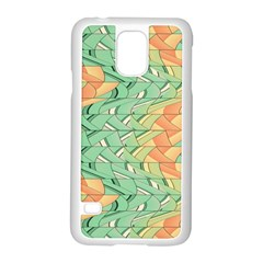 Emerald And Salmon Pattern Samsung Galaxy S5 Case (white) by linceazul