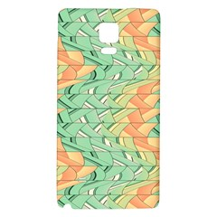 Emerald And Salmon Pattern Galaxy Note 4 Back Case by linceazul