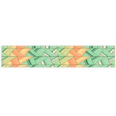 Emerald And Salmon Pattern Flano Scarf (large)  by linceazul