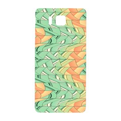 Emerald And Salmon Pattern Samsung Galaxy Alpha Hardshell Back Case by linceazul