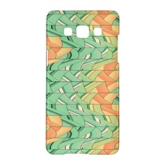 Emerald And Salmon Pattern Samsung Galaxy A5 Hardshell Case  by linceazul