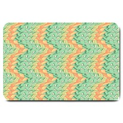 Emerald And Salmon Pattern Large Doormat  by linceazul