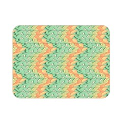 Emerald And Salmon Pattern Double Sided Flano Blanket (mini)  by linceazul