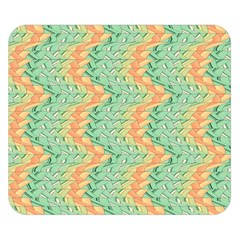 Emerald And Salmon Pattern Double Sided Flano Blanket (small)  by linceazul