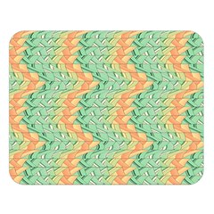 Emerald And Salmon Pattern Double Sided Flano Blanket (large)  by linceazul