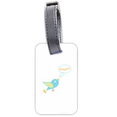 Cute Tweet Luggage Tags (two Sides) by linceazul